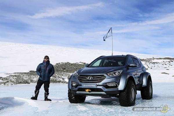 Hyundai Santa Fe Sukses Jelajahi Antartika