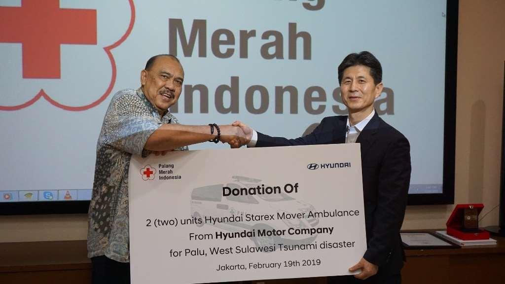 Sumbangan dari Hyundai Motor Company untuk Palang Merah Indonesia