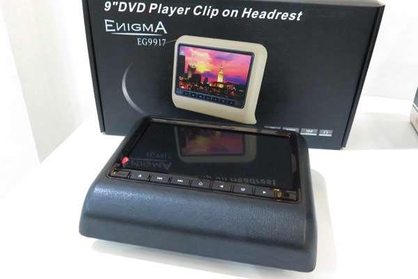 Headrest Monitor Dengan Pemutar CD dan Koneksi USB