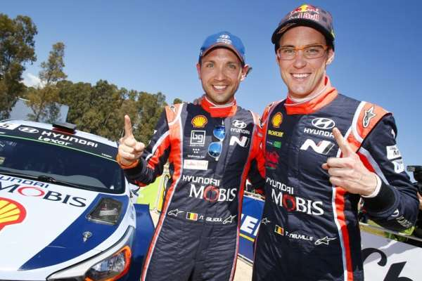 Hyundai Tempatkan Dua Pembalap di Podium WRC Prancis