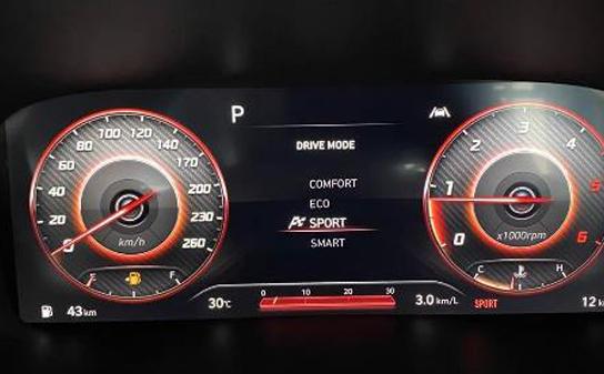 Multi Informasi Dari Cluster LCD Di Hyundai Santa Fe