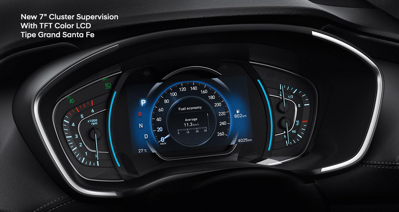 Pahami 4 Warna Instrument Cluster Drive Mode Hyundai Santa